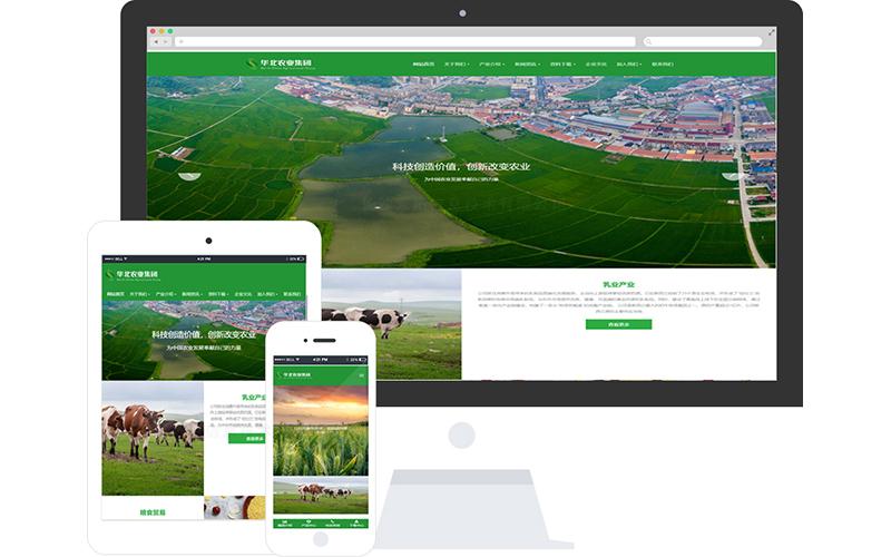 农业集团网站模板-农业集团网页模板 响应式模板 网站制作 网站建站