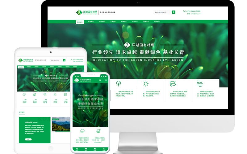 国有林场网站模板,国有林场网页模板,国有林场响应式网站模板
