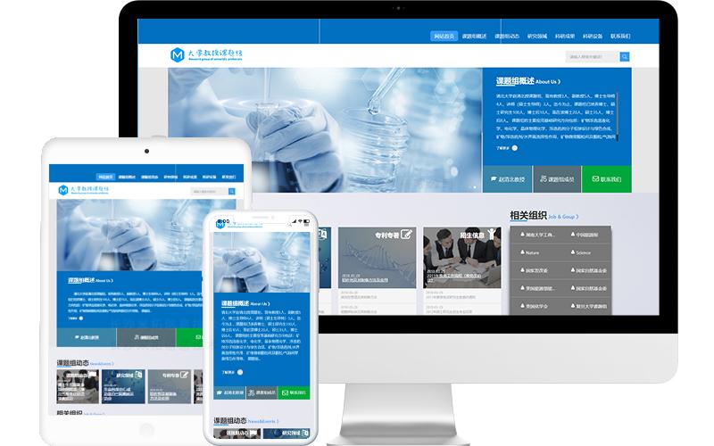 高校课题研究室网站模板,高校课题研究室网页模板,高校课题研究室响应式模板