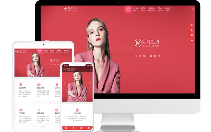 网红视频经济公司网站模板,网红视频经济公司网页模板,网红视频经济公司响应式网站模板