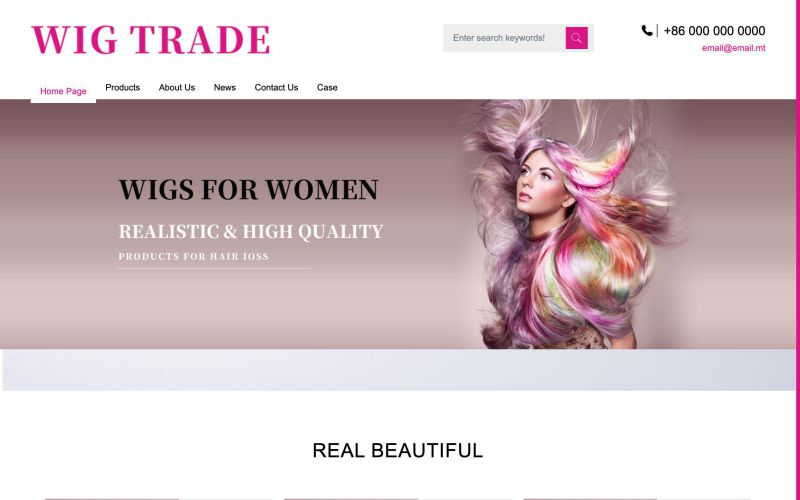 美容产品外贸公司网站模板,美容产品外贸公司网页模板,美容产品外贸公司响应式网站模板