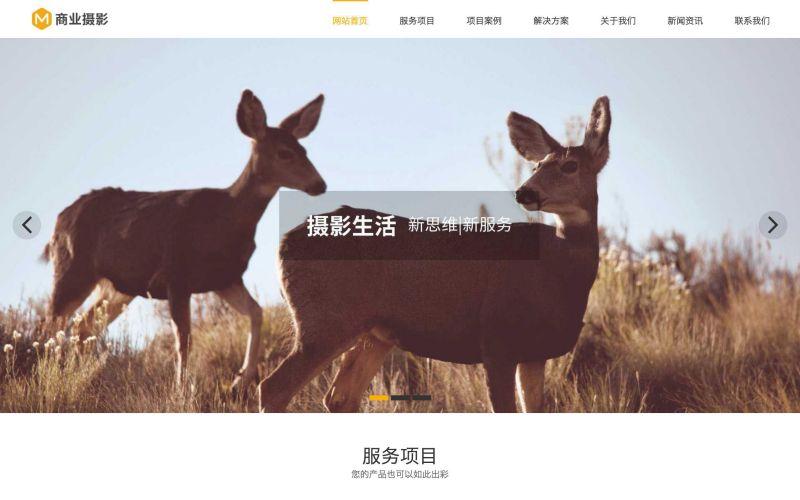商业摄影公司网站模板,商业摄影公司网页模板,商业摄影公司响应式网站模板