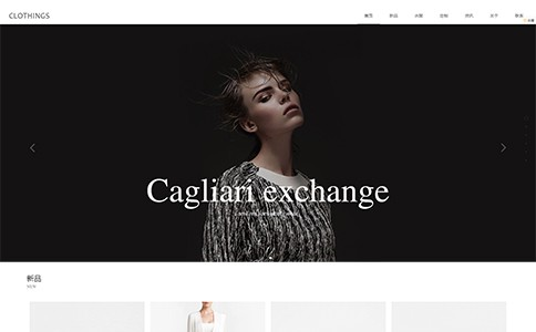 服装公司响应式网站模板