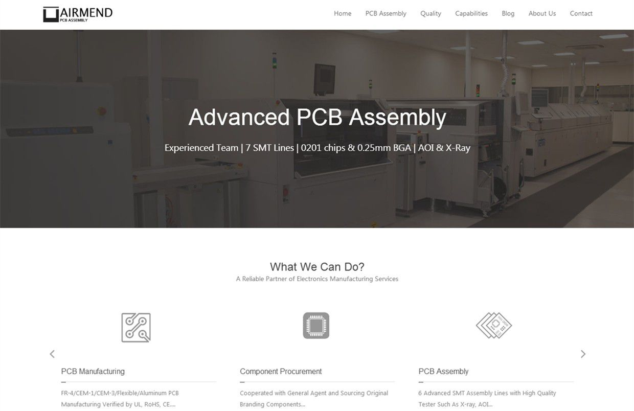AIRMEND International Limited - PCB Assembly