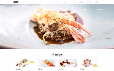 餐饮管理公司响应式网站模板