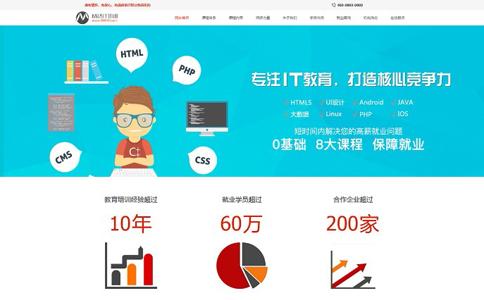 IT培训机构响应式网站模板