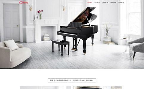 钢琴公司网站模板,钢琴公司网页模板,响应式模板,网站制作,网站建设