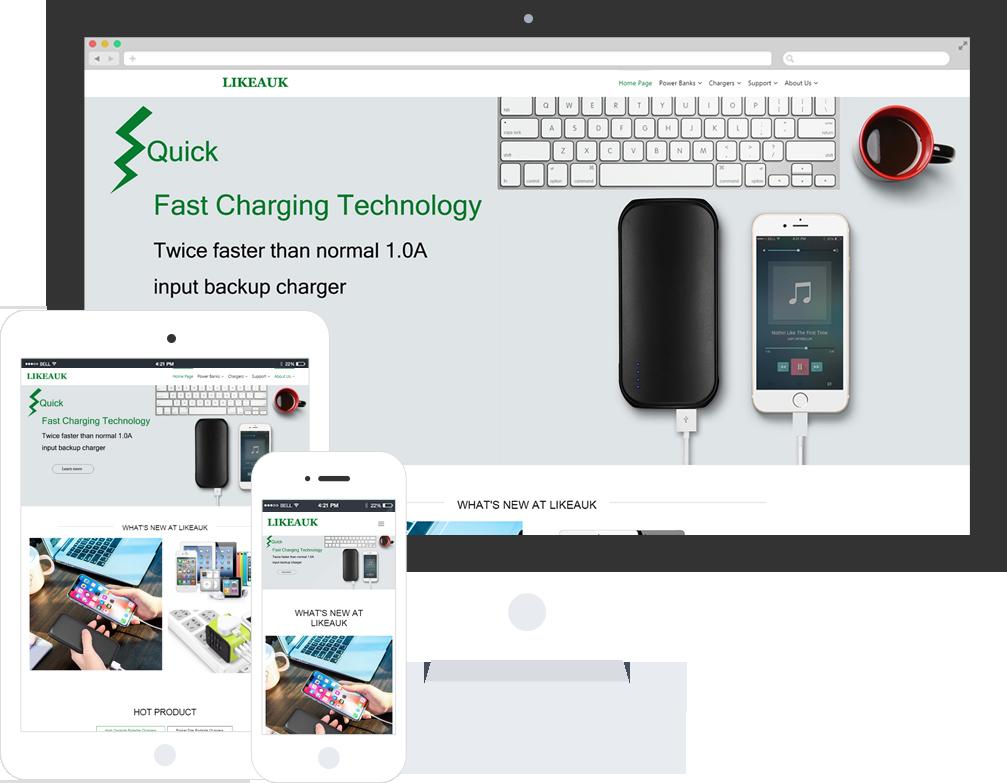电子产品公司网站模板-电子产品公司网页模板|响应式模板|网站制作|网站建站