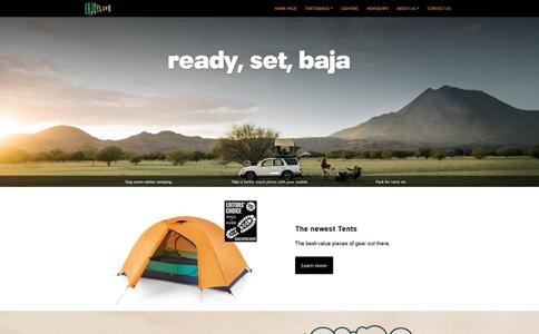 户外用品外贸响应式网站模板