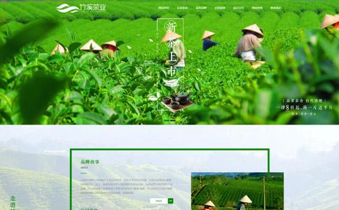茶业公司网站模板,茶业公司网页模板,响应式模板,网站制作,网站建设