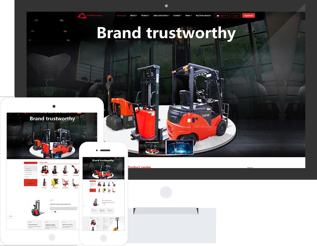 叉车公司网站模板-叉车公司网页模板|响应式模板|网站制作|网站建站