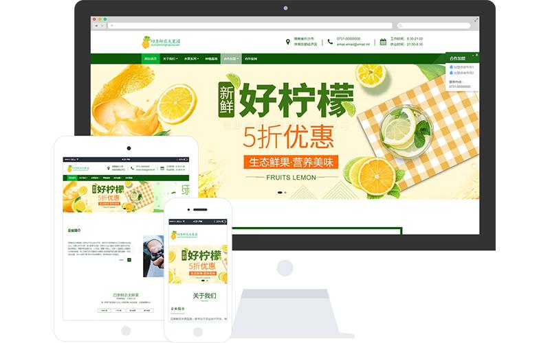 绿色食品加盟网站模板,绿色食品加盟网页模板,绿色食品加盟响应式网站模板
