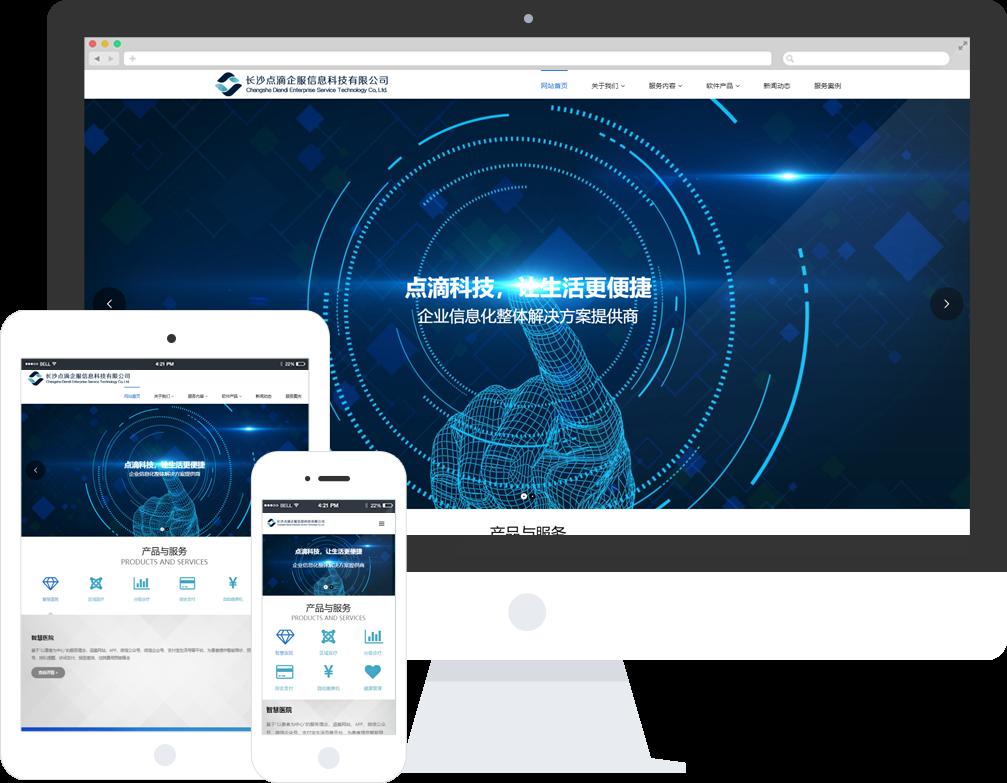 软件信息公司网站模板-软件信息公司网页模板|响应式模板|网站制作|网站建站