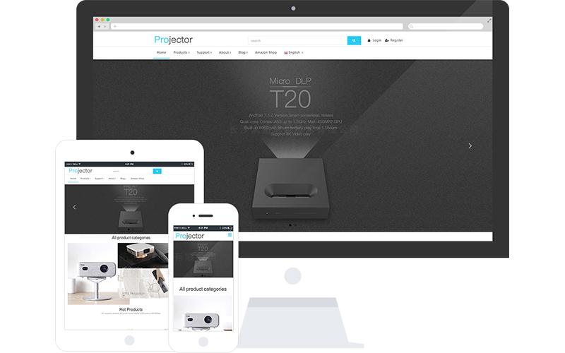 投影仪器外贸产品网站模板,投影仪器外贸产品网页模板,投影仪器外贸产品响应式模板